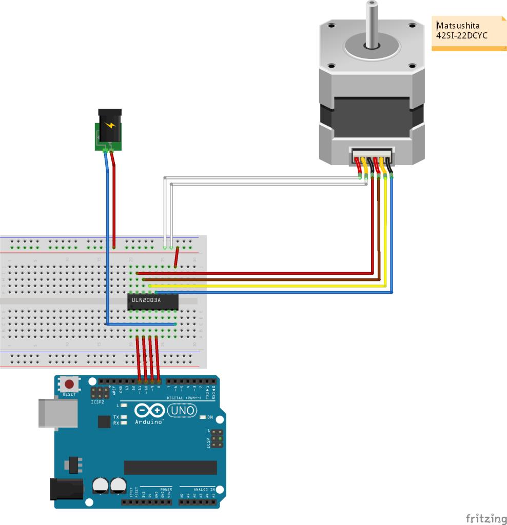 Stappenmotor - Matsushita 42SI-22DCYC arduino schema