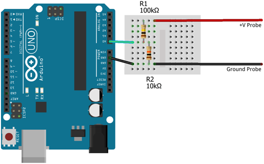 arduino dc voltmeter schema
