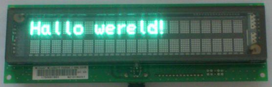 fluoriserende_display_script_hallo_wereld