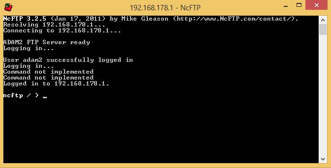 ncftp screen