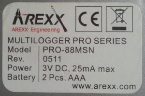 Arexx PRO-88MSN achterkant