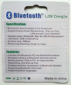Bluetooth dongle Cambridge Silicon Radio Ltd. verpakking 02