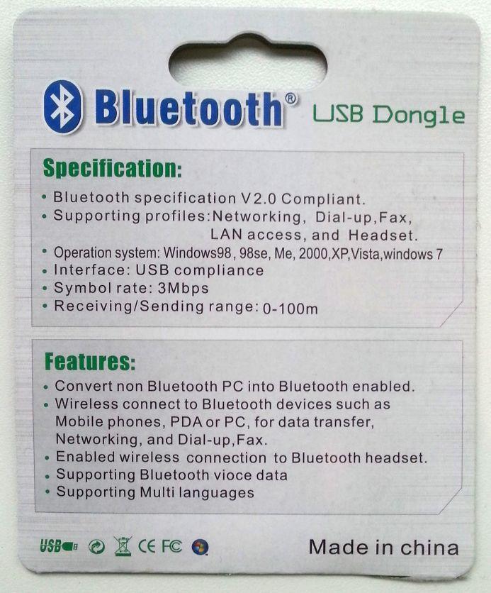 USB Stick - Bluetooth dongle Cambridge Silicon Radio Ltd