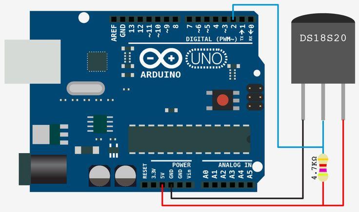 DS18S20 arduino schema