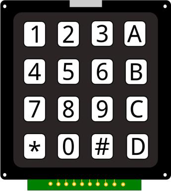 Fritzing - KEYPAD 4x4