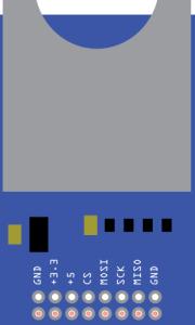 Fritzing - SD Card Module