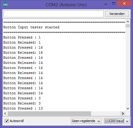 Arduino - Keypad 4x4 aanraakgevoelig (TTP229)