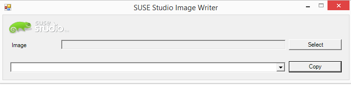 SUSE Studio ImageWriter v1.0.0.0 screen