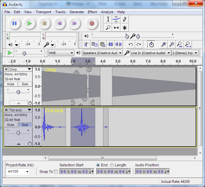 audacity windows screen