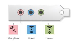 computer geluidskaart kleuren
