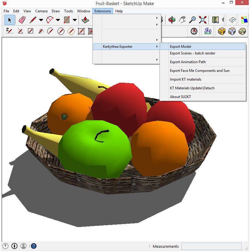 Kerkythea sketchup export model 01
