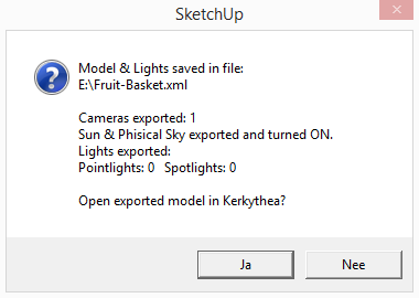 Kerkythea sketchup export model 03
