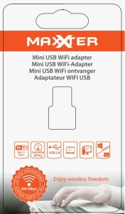 Maxxter WiFi USB Adapter 300Mbps verpakking voorkant