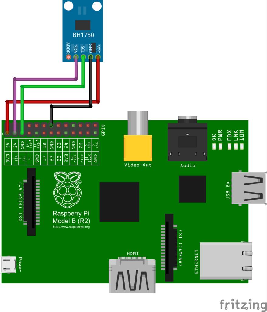 Raspberry BH1750 schema