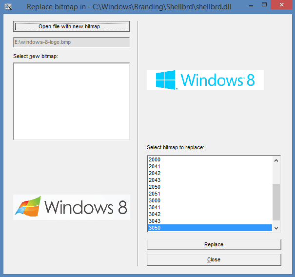 resource hacker windows 8 logo aanpassen