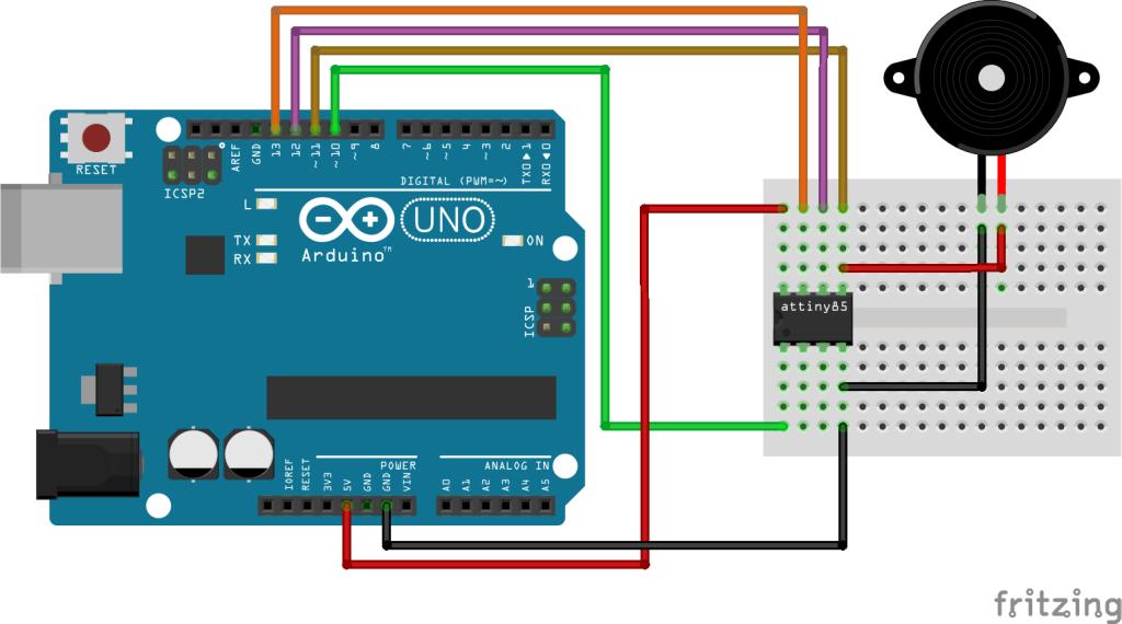 Arduino ATtiny Speaker pwm toon