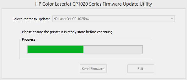 HP LaserJet CP 1025nw firmware update tool 01