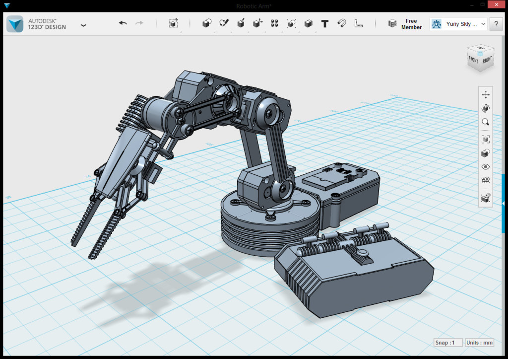 autodesk 123d design screen