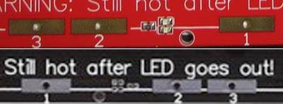 PCB Heatbead MK2b detail