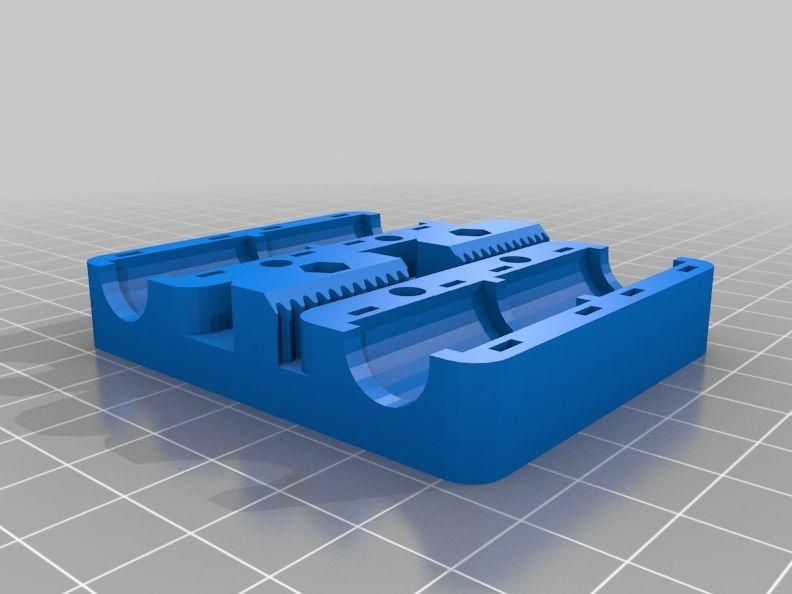 Prusa i3 - X-carriage met extra gaten voor Wade's extruder model