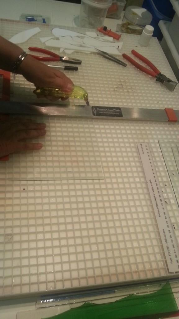 Prusa i3 - heated bed glasplaat 02