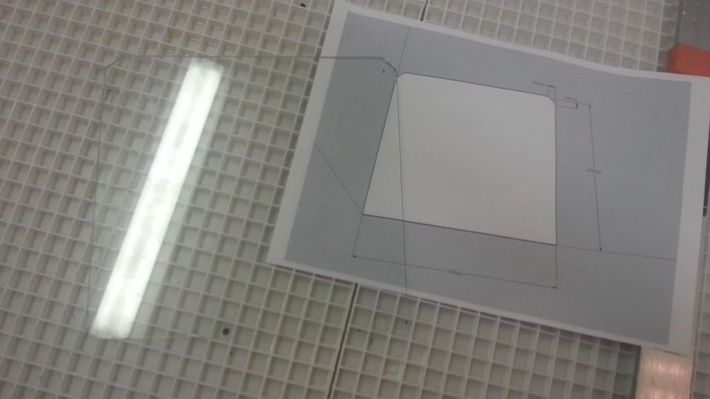 Prusa i3 - heated bed glasplaat 08