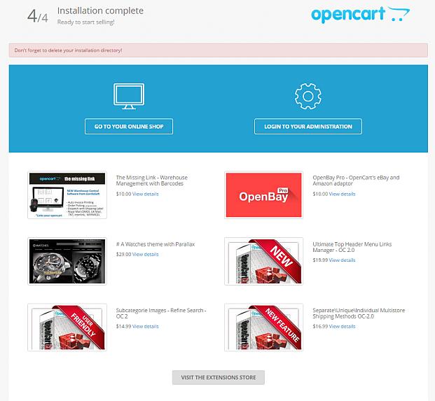 opencart installatie 01