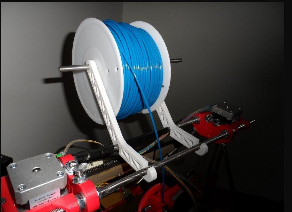 prusa i2 mendel simple spool holder foto