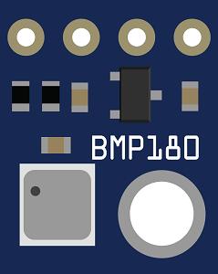 Barometric Pressure Sensor - BMP180 Breakout (GY-68)