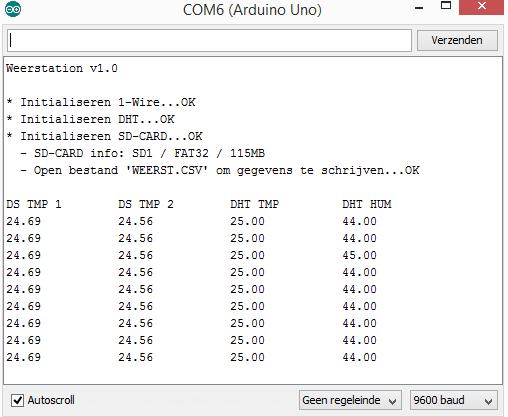 DomoticX - Arduino weerstation serial output
