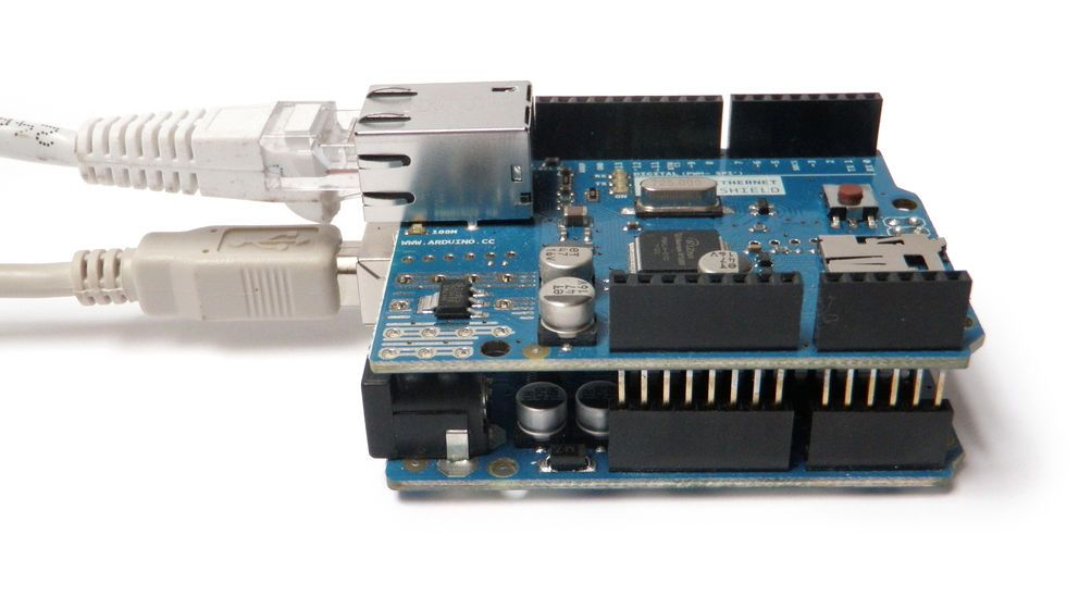 Arduino UNO met Ethernet shield