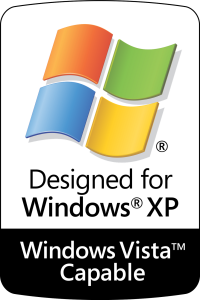 Designed for Windows XP - Windows Vista Capable