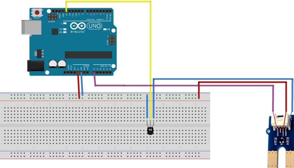 Grondvochtigheid sensor module voorbeeld homautomation.org