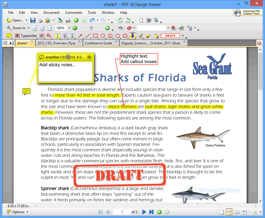 PDF-XChange Viewer screen 01