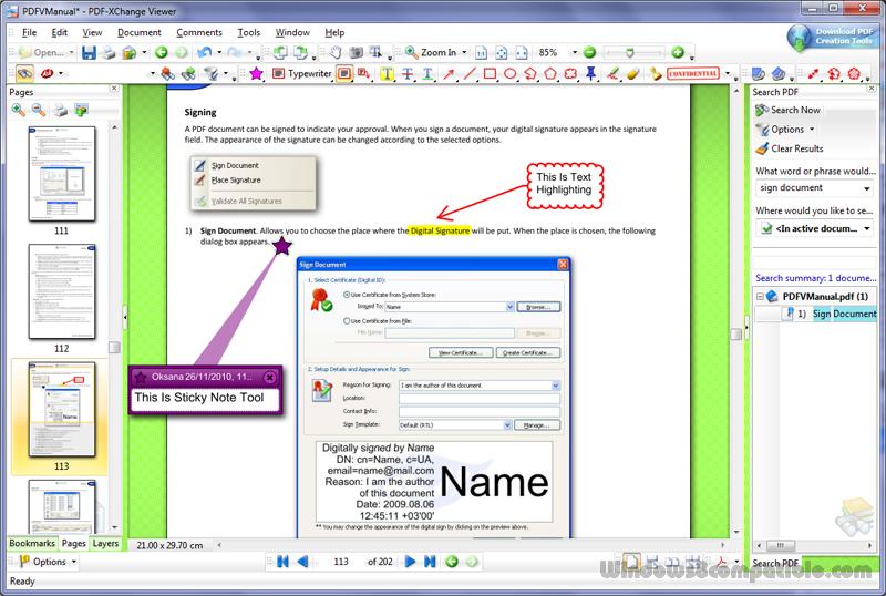 PDF-XChange Viewer screen 02