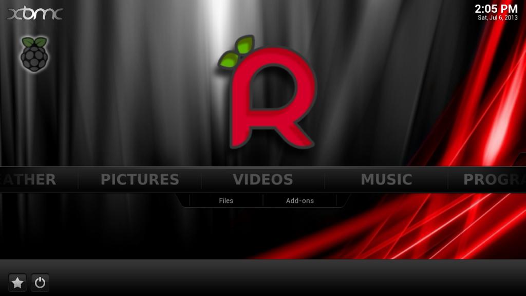 raspbmc screen