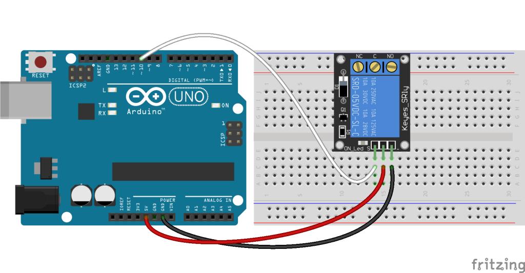 relais module arduino schema