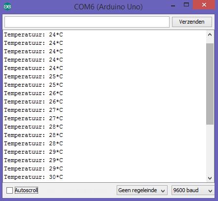 Arduino NTC console met bibliotheek