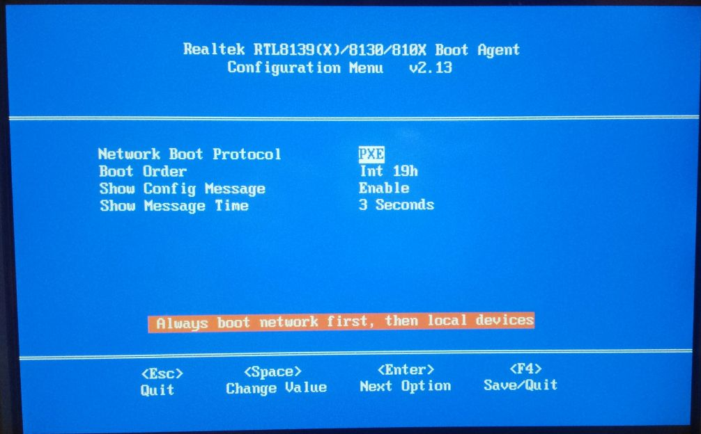 BIOS PXE Boot