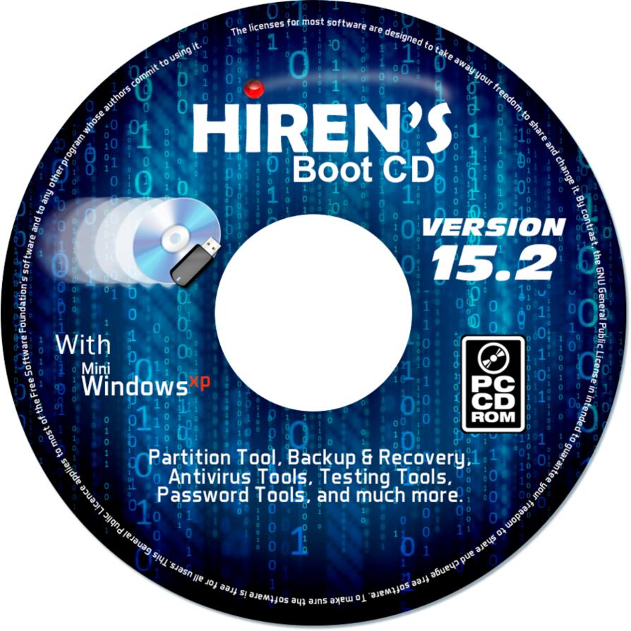Hiren's BootCD 15.2 cd-rom label