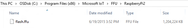 Windows 10 IoT FFU