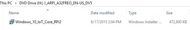 Windows 10 IoT MSI