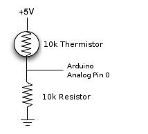 arduino thermistor schema