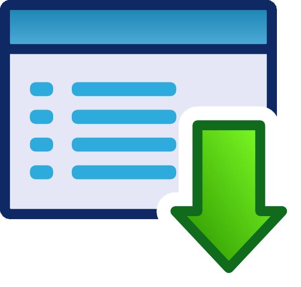 menu download icon