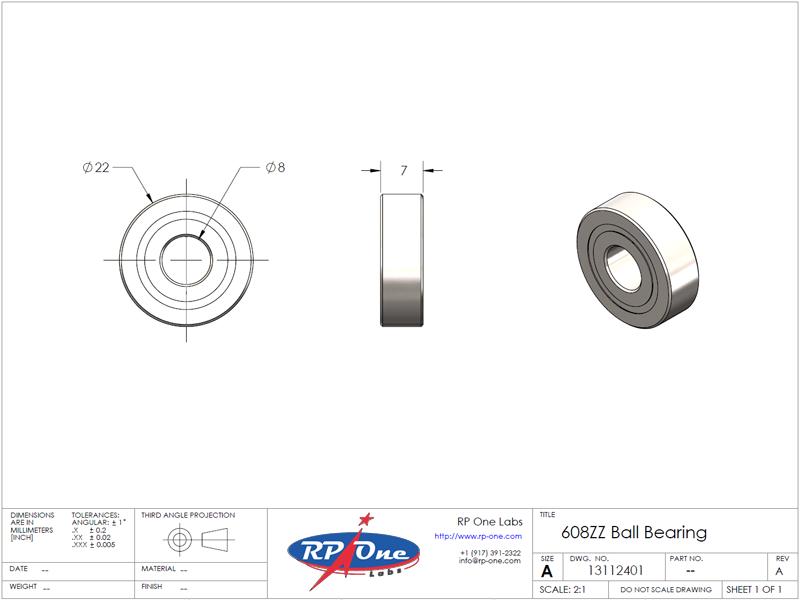 608ZZ Ball Bearing