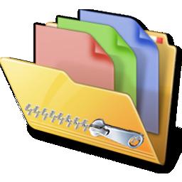 Compressie en decompressie folder icon