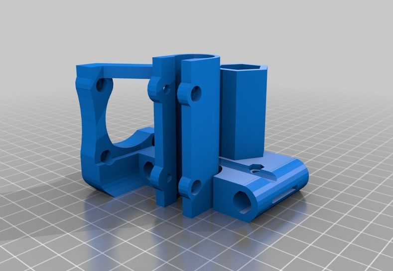 Improved X ends for Prusa with clamped rods model