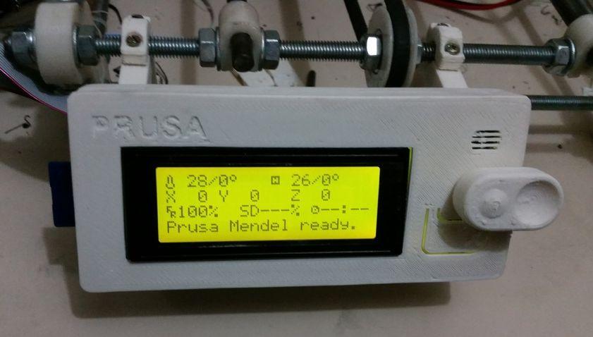 LCD scherm houder (RepRapDiscount) (Prusa i2 mendel) foto 01