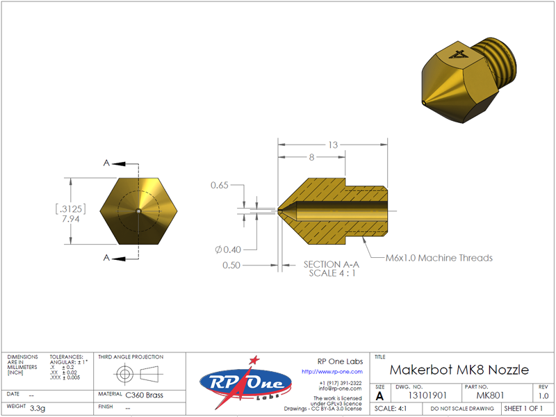 MB Nozzle Mk8