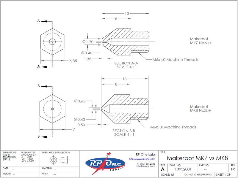 Makerbot mk7 vs. mk8